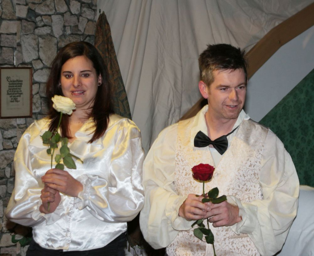 Martin Rapp (Schmetterlingsgruppe) und Doreen Scherrer (Bärengruppe) als die Prinzen
